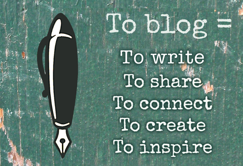blogging pen logo